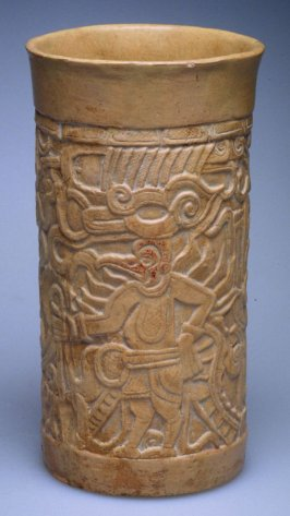Molded and carved vessel