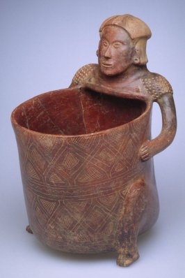 Seated figure holding bowl