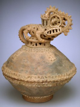 Censer with lizard