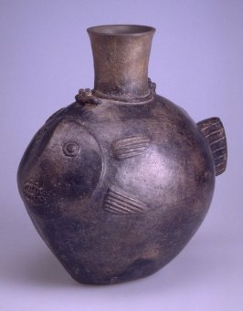 Fish effigy jar