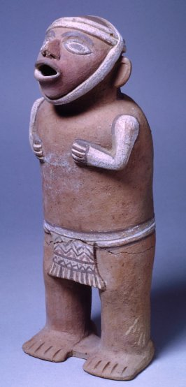 Standing male with loin cloth and cap