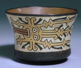 Bowl with face design