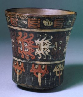 Cup with face designs