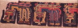 Fragment of a tab border with feline impersonators