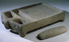 Metate (with pestle: 1986.38b)