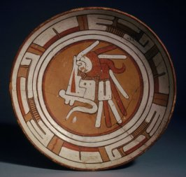 Plate with glyphs