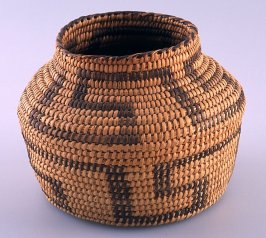 Basket with neck