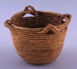 Basket with four handles
