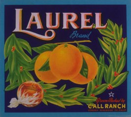 Orange crate label-Laurel Brand