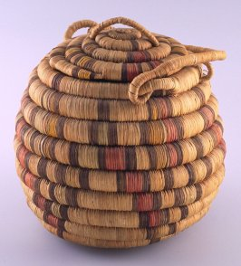 Covered ceremonial basket