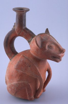 Stirrup vessel in shape of puma