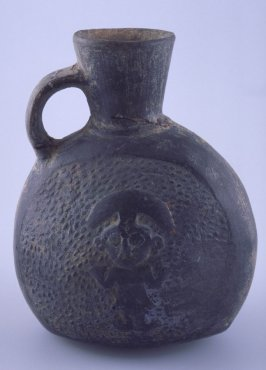 Jug with figure and two birds