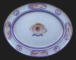 Platter with arms of Araujo de Azevedo
