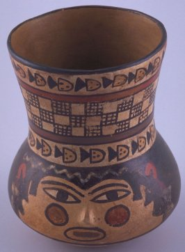 Cup with face design