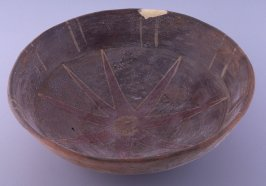Bowl with eight pointed star design