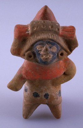 Ocarina in form of standing figure