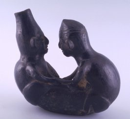 Jar in the form of two figures