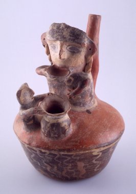 Vessel with two human figures