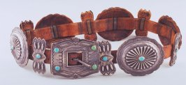 Concha belt and buckle