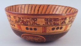 Bowl with God figures
