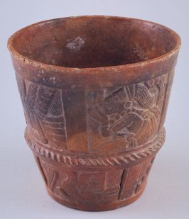Rattle vessel with skull owl
