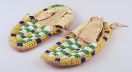 Pair of child's moccasins