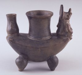 Vessel with Bat Deity