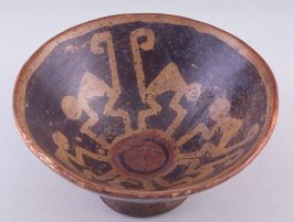 Footed monkey bowl