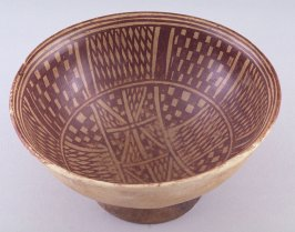 Footed bowl with Geometric Figure design