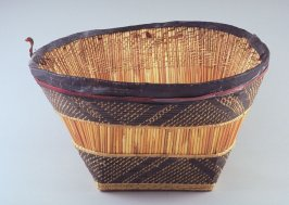 Basket with black horizontal bandsAfrica