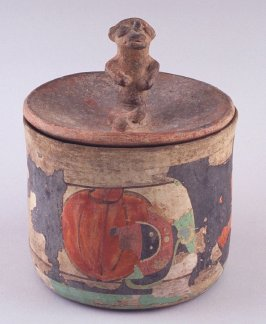 Vessel with Monkey Lid