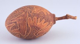 Baobab nut with animal designs