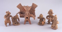 Six miniature figures