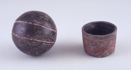 Miniature offering bowl and ball
