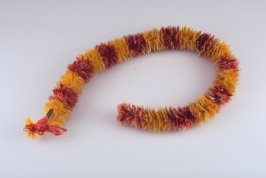 Orange and yellow lei