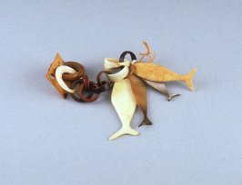 Ear pendant (chain-linked earring with fish)