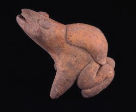 Whistle in the form of a miniature frog figure