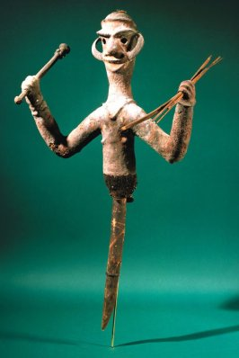 Figure -Upper torso - holding arrows (temes)