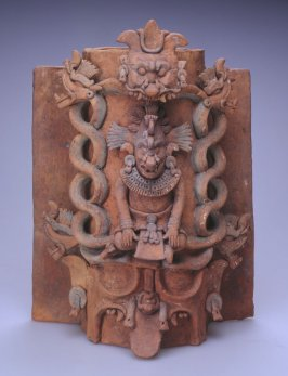 Flanged cylinder vessel with the God K'awiil