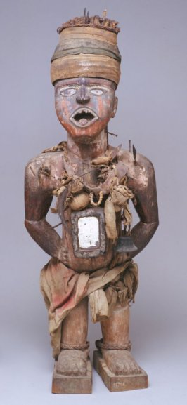 Nail and blade oath-taking figure