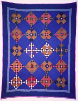 "Quilt: ""Double Nine-Patch"" pattern"