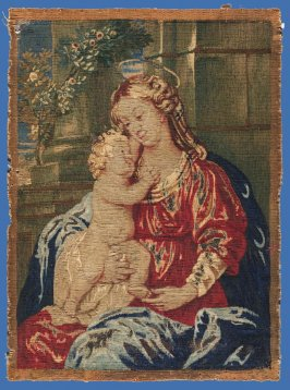 Devotional picture of Madonna and Child