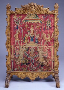 Fire Screen with Tapestry Panel