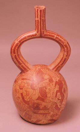 Vessel with hunting scene