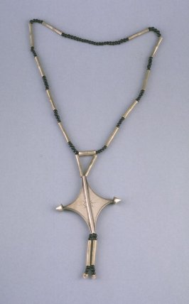 Cross on chain with beads
