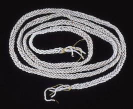 Braided white necklace