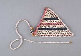 Necklace with triangular pendant