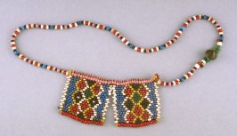Necklace with two flat pendants