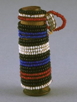 Beaded container (old gun shell)