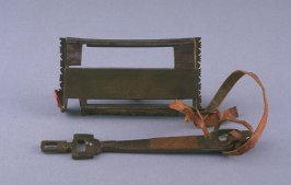 Lock and key (for camel bag 1979.63.36a)